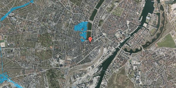 Oversvømmelsesrisiko fra vandløb på Vesterbrogade 34, 3. th, 1620 København V