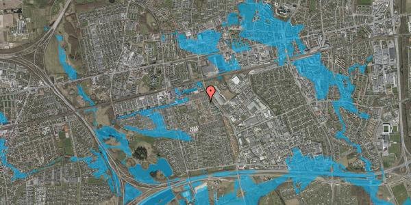 Oversvømmelsesrisiko fra vandløb på Gulkløvervænget 8, 2625 Vallensbæk