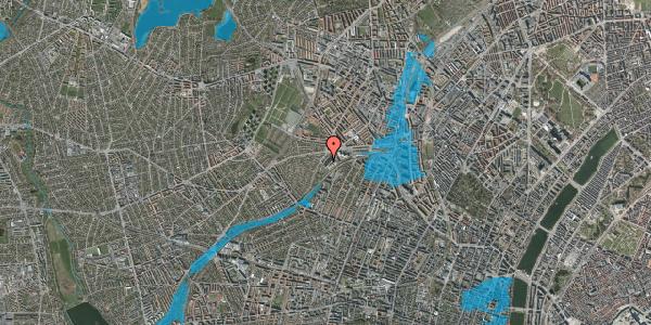 Oversvømmelsesrisiko fra vandløb på Jordbærvej 115, 2400 København NV