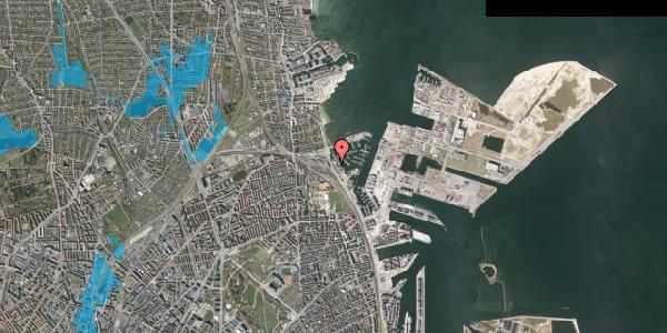 Oversvømmelsesrisiko fra vandløb på Strandvænget 51B, 2100 København Ø
