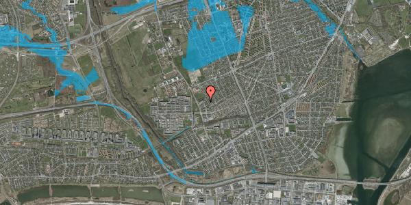 Oversvømmelsesrisiko fra vandløb på Mellemvangsvej 102, 2650 Hvidovre