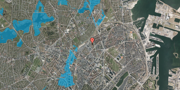 Oversvømmelsesrisiko fra vandløb på Emblasgade 115, 1. th, 2100 København Ø