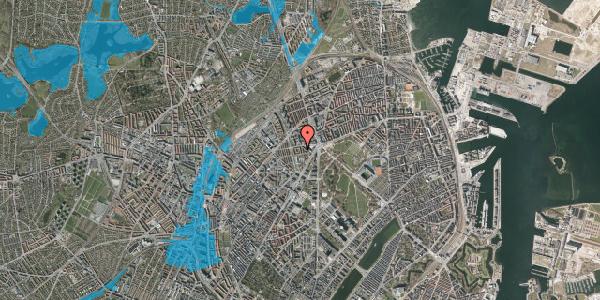 Oversvømmelsesrisiko fra vandløb på Lersø Parkallé 28X, 1. , 2100 København Ø