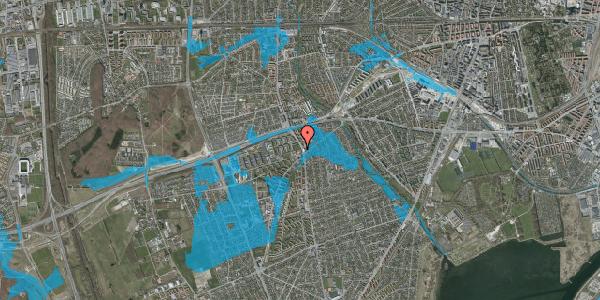 Oversvømmelsesrisiko fra vandløb på Hvidovrevej 218A, 2650 Hvidovre