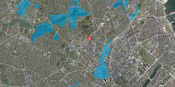 Oversvømmelsesrisiko fra vandløb på Rentemestervej 58, 2400 København NV