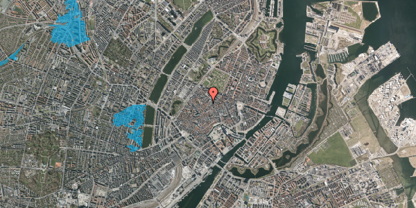 Oversvømmelsesrisiko fra vandløb på Købmagergade 52, 3. , 1150 København K
