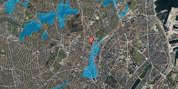 Oversvømmelsesrisiko fra vandløb på Bygmestervej 21A, 3. th, 2400 København NV