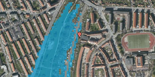 Oversvømmelsesrisiko fra vandløb på Haven 12, 2000 Frederiksberg