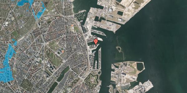 Oversvømmelsesrisiko fra vandløb på Marmorvej 43, 1. th, 2100 København Ø