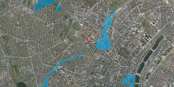 Oversvømmelsesrisiko fra vandløb på Jordbærvej 55, 2400 København NV