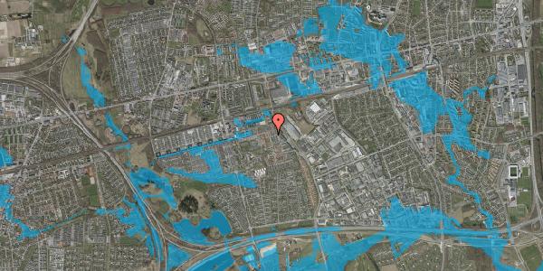 Oversvømmelsesrisiko fra vandløb på Bjergkløvervænget 5, 2625 Vallensbæk