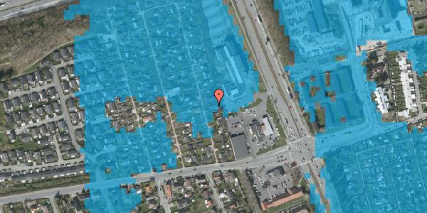 Oversvømmelsesrisiko fra vandløb på Hf. Kettehøj 122, 2650 Hvidovre