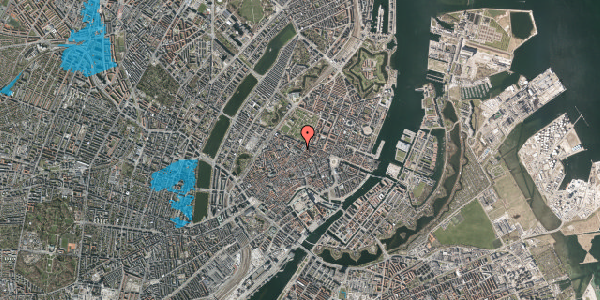 Oversvømmelsesrisiko fra vandløb på Vognmagergade 7, 1. tv, 1120 København K
