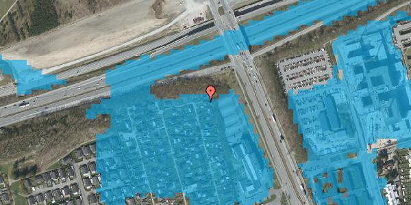 Oversvømmelsesrisiko fra vandløb på Hf. Kettehøj 109, 2650 Hvidovre