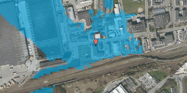 Oversvømmelsesrisiko fra vandløb på Sydvestvej 129A, 2600 Glostrup