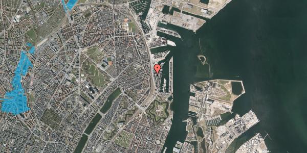 Oversvømmelsesrisiko fra vandløb på Amerika Plads 19A, 3. , 2100 København Ø