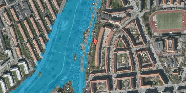 Oversvømmelsesrisiko fra vandløb på Haven 4, 2000 Frederiksberg