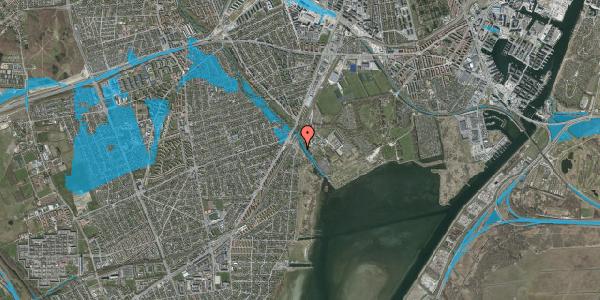 Oversvømmelsesrisiko fra vandløb på Strandbovej 1, 2650 Hvidovre