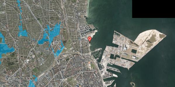 Oversvømmelsesrisiko fra vandløb på Strandpromenaden 63, 3. , 2100 København Ø