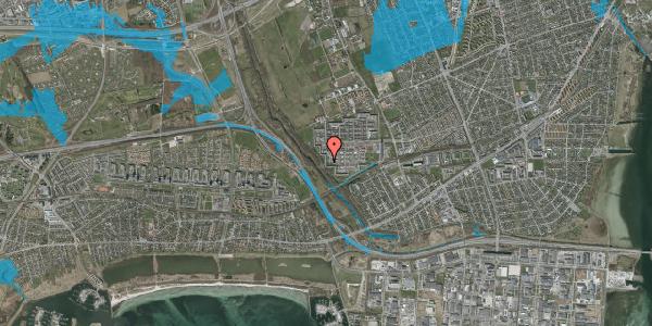 Oversvømmelsesrisiko fra vandløb på Bymuren 91A, 1. 3, 2650 Hvidovre