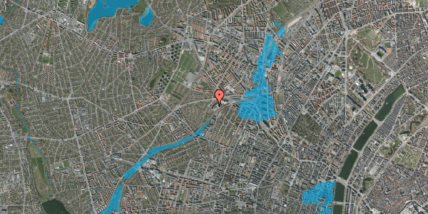Oversvømmelsesrisiko fra vandløb på Jordbærvej 111, 1. , 2400 København NV