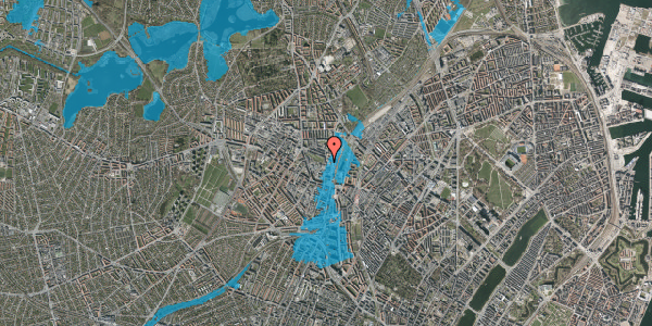 Oversvømmelsesrisiko fra vandløb på Rebslagervej 10, 3. 15, 2400 København NV
