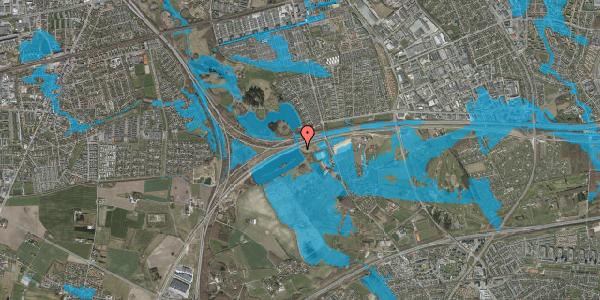 Oversvømmelsesrisiko fra vandløb på Vejlegårdsvej 131, 2625 Vallensbæk