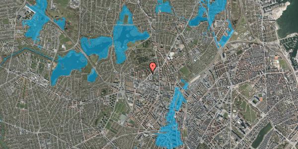 Oversvømmelsesrisiko fra vandløb på Gravervænget 3B, 2400 København NV