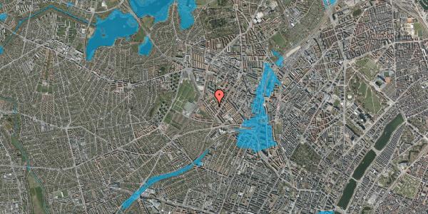 Oversvømmelsesrisiko fra vandløb på Vestergårdsvej 14A, st. , 2400 København NV