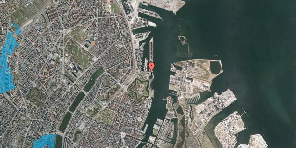 Oversvømmelsesrisiko fra vandløb på Indiakaj 18, 1. tv, 2100 København Ø