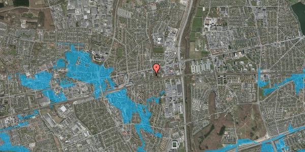 Oversvømmelsesrisiko fra vandløb på Glostrup Hule 2, 2600 Glostrup