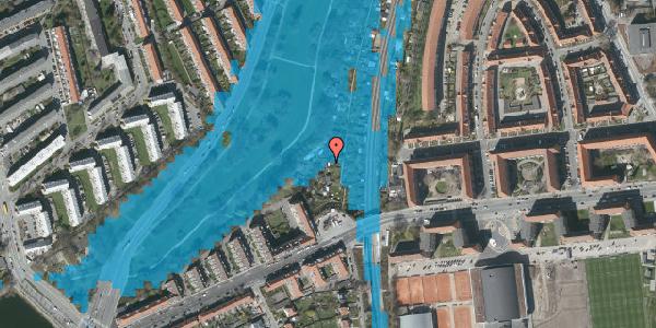 Oversvømmelsesrisiko fra vandløb på Hf. Zenia-Lindevang 9, 2000 Frederiksberg