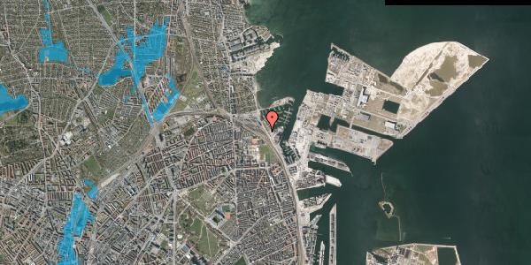 Oversvømmelsesrisiko fra vandløb på Strandvænget 40, 2100 København Ø