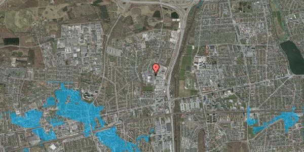 Oversvømmelsesrisiko fra vandløb på Langagervej 76, 2600 Glostrup