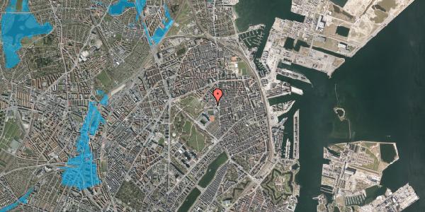 Oversvømmelsesrisiko fra vandløb på Østerfælled Torv 7, 1. , 2100 København Ø