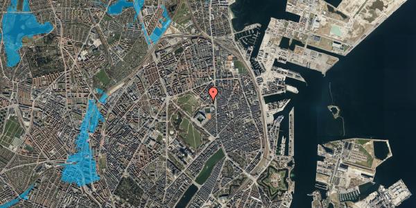 Oversvømmelsesrisiko fra vandløb på Serridslevvej 2, st. , 2100 København Ø