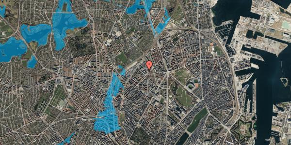 Oversvømmelsesrisiko fra vandløb på Vermundsgade 38E, 3. th, 2100 København Ø
