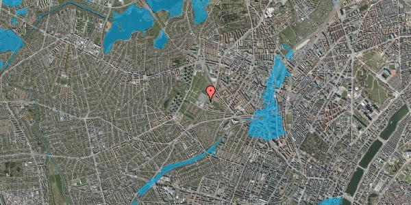 Oversvømmelsesrisiko fra vandløb på Hulgårdsvej 83, 2400 København NV