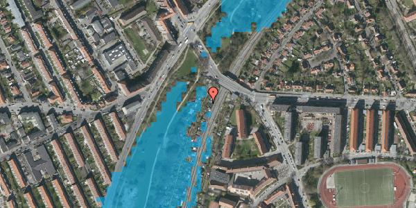 Oversvømmelsesrisiko fra vandløb på Hf. Grænsen 1B, 2000 Frederiksberg