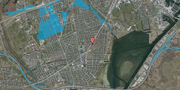 Oversvømmelsesrisiko fra vandløb på Gammel Køge Landevej 306E, 1. , 2650 Hvidovre