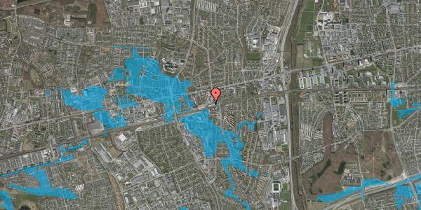 Oversvømmelsesrisiko fra vandløb på Banegårdsvej 100, 2600 Glostrup