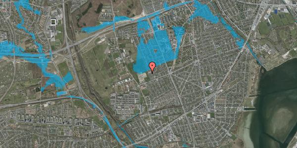 Oversvømmelsesrisiko fra vandløb på Hf. Dahlia 86, 2650 Hvidovre