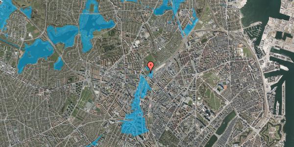 Oversvømmelsesrisiko fra vandløb på Tagensvej 184A, 2400 København NV