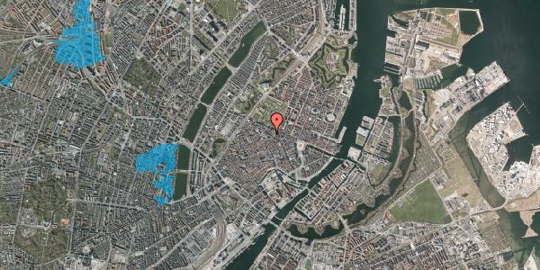 Oversvømmelsesrisiko fra vandløb på Vognmagergade 7, st. tv, 1120 København K