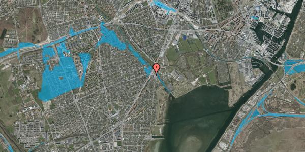 Oversvømmelsesrisiko fra vandløb på Åmarkvej 2A, 2650 Hvidovre