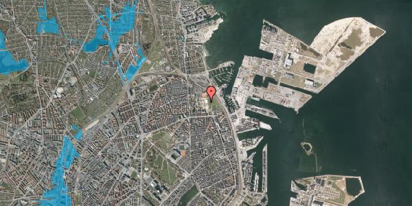 Oversvømmelsesrisiko fra vandløb på Sionsgade 15, 2100 København Ø
