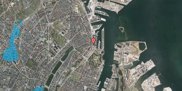 Oversvømmelsesrisiko fra vandløb på Østbanegade 31, 2100 København Ø