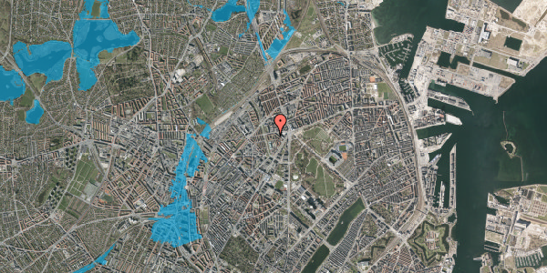 Oversvømmelsesrisiko fra vandløb på Lersø Parkallé 28X, 2. , 2100 København Ø