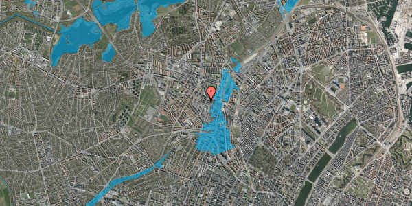 Oversvømmelsesrisiko fra vandløb på Vibevej 7C, 1. tv, 2400 København NV