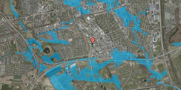 Oversvømmelsesrisiko fra vandløb på Vallensbæk Torvevej 41, 2625 Vallensbæk